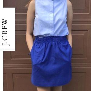 J. Crew Sidewalk Blue Mini skirt